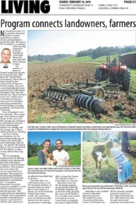 Cover photo for Great Article in the  Feb. 10 2019 edition of the Lenoir News About NC FarmLink