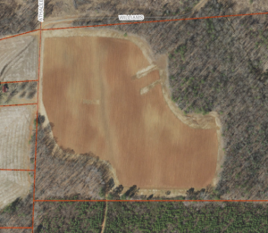 Cover photo for +/- 25 Acres of Cropland for Lease in Yadkin County Near East Bend